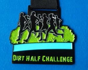 Dirt half Challenge 2015 medal