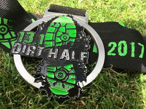Dirt Half Challenge medal 2017